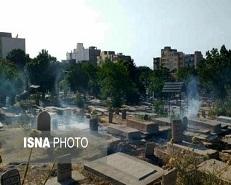گورستان 120 ساله تبریز در محاصره دود و فراموشی